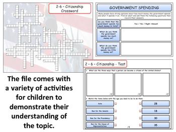 United States - Government & Civics - Unit 6 - Citizenship