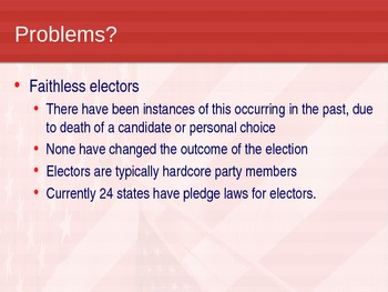 United States Government: Electoral College PowerPoint