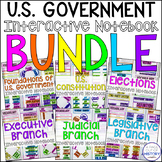 United States Government Interactive Notebook Graphic Organizers Bundle