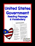 United States Government Reading Passage and Vocabulary