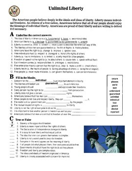 United States Government Studies Worksheets