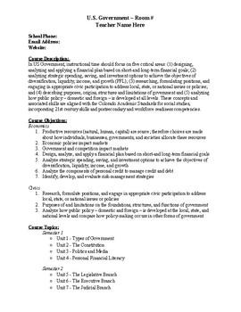 United States Government Syllabus