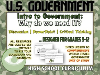 United States Government Unit: Introductory Lesson to Enga