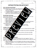 United States Government Worksheet