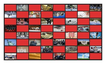U. S. Government and Citizenship Legal Size Photo Checkerboard Game