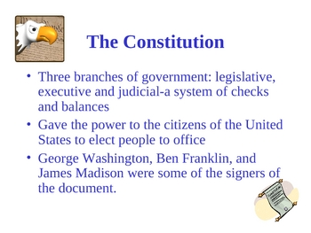 United States Historical Documents Powerpoint Activity
