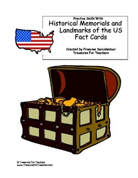 United States Historical Landmark and Memorial Fact Cards