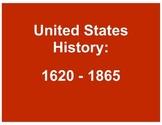 United States History: 1620 - 1865