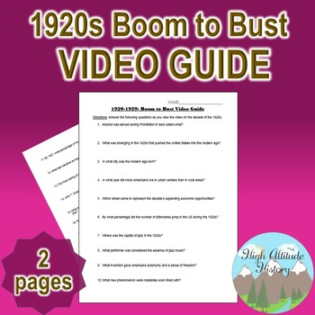 1920s Boom to Bust Original Video Guide Questions