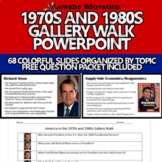 United States History America in the 1970s and 1980s Gallery Walk PowerPoint