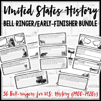 United States History Bell Ringers/ Early-Finishers (1900-1920s)
