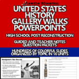 United States History Full Year PowerPoint Gallery Walk Guided & Teacher Notes