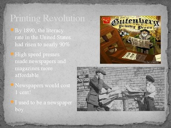 United States History - Gilded Age - 20th Century Life - Industrialization