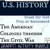 United States History Graffiti Bundle the Colonies through the U.S. Civil War