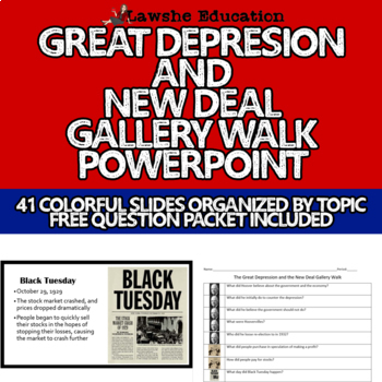 United States History Great Depression and New Deal Gallery Walk