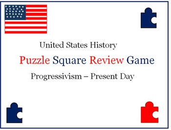 United States History Puzzle Square Review Game (Progressi