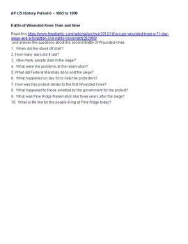 United States History Reading, Writing, Thinking Lesson Plans and Activities