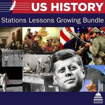United States History Stations Lessons - 15 stations