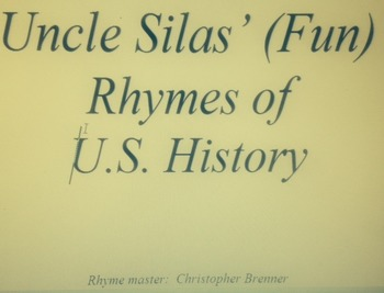 United States History Study Guide of (Fun) Rhymes
