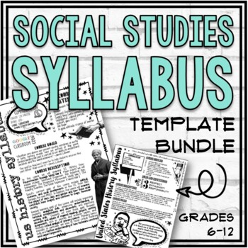 "U.S. History, American Government, Civics & ""Generic"" Syllabus Templates"
