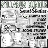 "U.S. History, American Government, Civics & ""Generic"" Syllabus Templates"