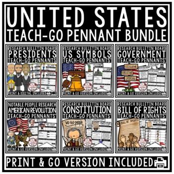United States History Teach- Go Pennants™ U.S. Presidents, American Symbols