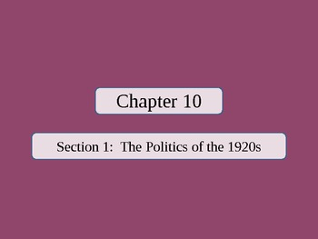 United States History - The American Vision - Unit Four PowerPoint