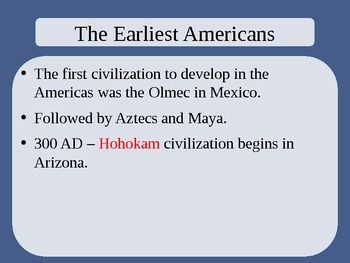 United States History - The American Vision - Unit One PowerPoint