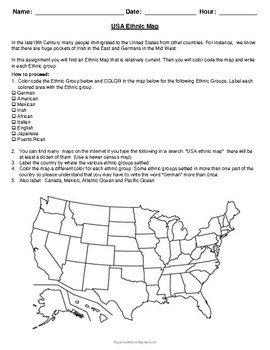 United States History: USA Ethnic Map Activity on us map canvas, us map draw, us map country, us map feature, us map format, us map star, us map title, us map card, us map number, us map track, us map paper, us map transparency, us map watermark, us map postcard, us map scrapbook, us map banner, us map pattern, us map year, us map copy, us map display,