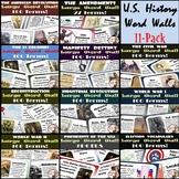 U.S. History Word Walls: 13 Colonies-World War II (plus Elections & Amendments)
