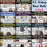 U.S. History Word Walls: 13 Colonies-World War II (plus El