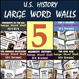 United States History Word Walls: 13 Colonies through Civil War