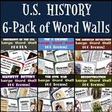 U.S. History Word Walls Bundle: 13 Colonies to Reconstruction (plus Presidents)