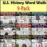 U.S. History Word Walls: 13 Colonies-Indust. Revolution (+ Elections/Amendments)