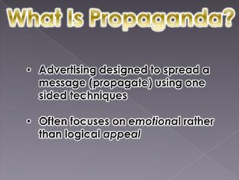 World War 1 Propaganda PowerPoint Presentation (U.S. History / World History)