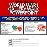 United States History World War I WWI Gallery Walk PowerPoint