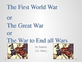 United States History - World War I - World History