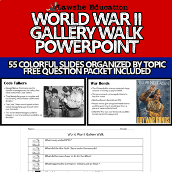 United States History World War Ii Wwii Gallery Walk By Lawshe Education