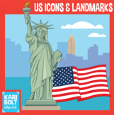 United States Icons and Landmarks Clip Art