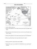United States Imperialism Map and Questions Worksheet with