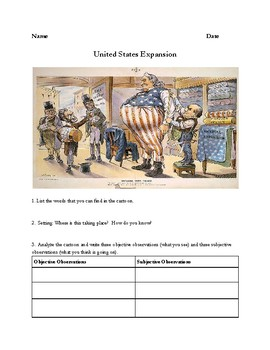 United States Imperialism Political Cartoon