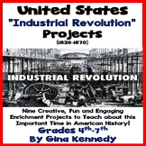 Industrial Revolution Projects, Enrichment Writing & Research Activities