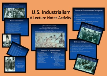 United States Industrialism PPT w/Pictures & Lecture Content