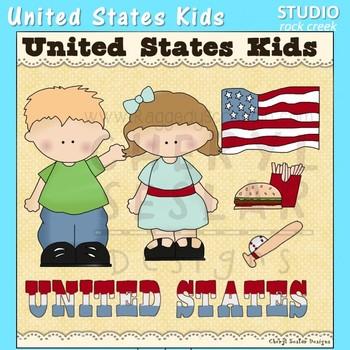 United States Kids Color Clip Art C. Seslar