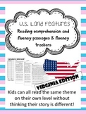United States Land Features Virginia fluency and comprehension leveled passages