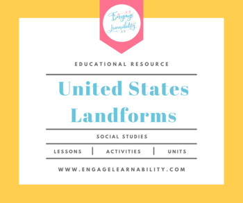 United States Landforms PowerPoint By Engage Learnability TpT - Landforms of the united states