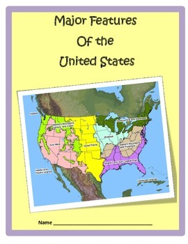Geography USLandforms Study Guide 3rd Grade by Cammies Corner