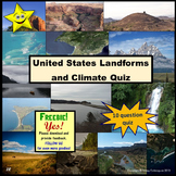 United States Landforms and Climate Quiz