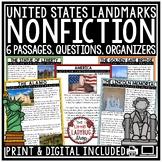 US Landmark Nonfiction Reading Passages & Questions 4th Grade 3rd Grade