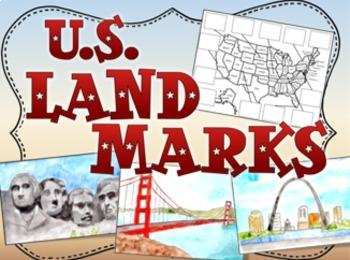United States US Landmarks by The Classroom Key  TpT